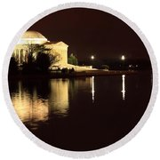 Jefferson Memorial From Across The Tidal Pool Round Beach Towel