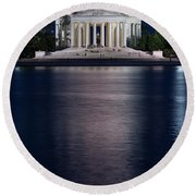 Jefferson Memorial Washington D C Round Beach Towel by Steve Gadomski