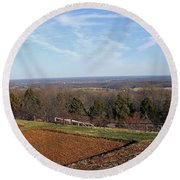 Jefferson's View From Monticello Round Beach Towel