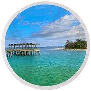 Jekyll Island Just Like Paradise Round Beach Towel
