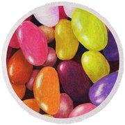Jelly Beans Round Beach Towel