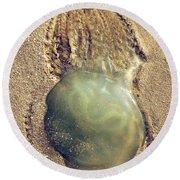 Jellyfish Round Beach Towel by Carlos Caetano