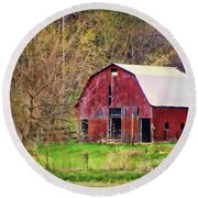 Jemerson Creek Barn Round Beach Towel