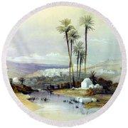 Jenin Ancient Jezreel 1839 Round Beach Towel