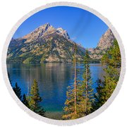 Jenny Lake Overlook Round Beach Towel