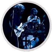 Jerry And Billy At Winterland 2 Round Beach Towel