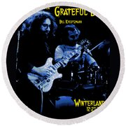 Jerry And Billy At Winterland Round Beach Towel