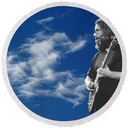 Jerry And The Dancing Cloud Round Beach Towel