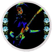 Jerry And The Flowers 2 Round Beach Towel