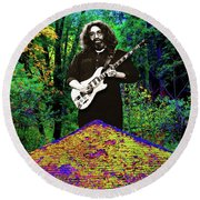 Jerry At The Cosmic Pyramid In The Woods  Round Beach Towel