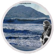Jerry Garcia At Mt Tamalpaisland 2 Round Beach Towel