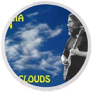 In The Clouds Round Beach Towel