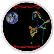 Jerry In Space Round Beach Towel