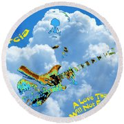 Jerry In The Sky With Love Round Beach Towel