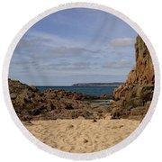 Jersey Beach  Round Beach Towel