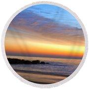 Jersey Shore Sunrise Round Beach Towel