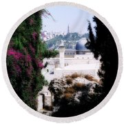 Jerusalem Beautiful Round Beach Towel