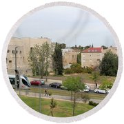 Jerusalem Near New Gate Round Beach Towel
