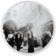 Old City Of Jerusalem Round Beach Towel