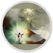 Jesus Abstract Round Beach Towel