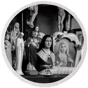 Jesus And Mary At The Curio Shop Round Beach Towel