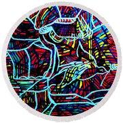 Jesus Christ - King Of Peace Round Beach Towel by Gloria Ssali