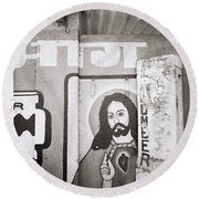 Jesus In Mumbai Round Beach Towel