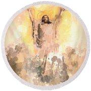 Jesus Loves You 2 Round Beach Towel
