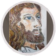 Jesus Our Saviour Round Beach Towel