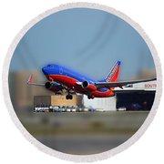 Jet Chicago Airplanes 17 Round Beach Towel