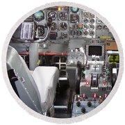 Jet Cockpit Round Beach Towel