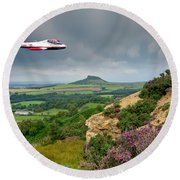 Jet Provost Over The Cleveland Hills Round Beach Towel