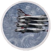 Jetsvangogh Round Beach Towel