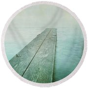 Jetty Round Beach Towel by Priska Wettstein