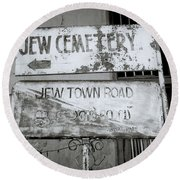 Jew Town In Cochin Round Beach Towel