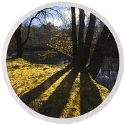 Jewel In The Trees Round Beach Towel