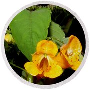 Jewel Weed Round Beach Towel