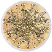 Jewels In The Sand Round Beach Towel