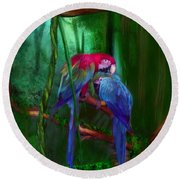 Jewels Of The Jungle Round Beach Towel