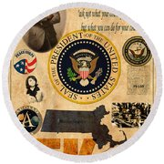 JFK Round Beach Towel