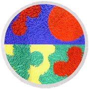 Jigsaw Pieces Round Beach Towel
