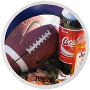 Jim Beam Coke And Football Round Beach Towel