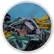 Jim Clark Indy 500 Round Beach Towel