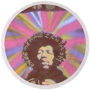 Jimi Hendrix Pastel Round Beach Towel