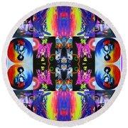 Jimi Kaleidoscope I Round Beach Towel