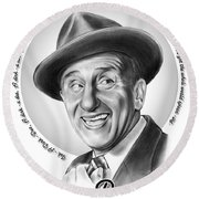 Jimmy Durante Round Beach Towel