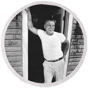 Jimmy Hoffa Interview Round Beach Towel