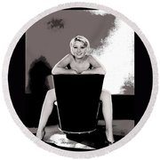 Joan Blondell Warner Brothers Publicity Photo Early 1930's-2014 Round Beach Towel
