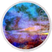 Job 31 29 30 Round Beach Towel