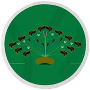 Jocelyn's Flower Round Beach Towel